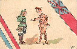 - Ref-632- Guerre 1914-18 - Illustrateur Brice - Enfants Soldats Ecossais Et Anglais  - Illustrateurs - Carte Bon Etat - - Weltkrieg 1939-45