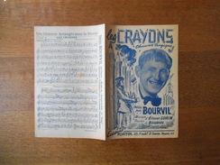 LES CRAYONS CREEE PAR BOURVIL PAROLES DE BOURVIL MUSIQUE D'ETIENNE LORIN 1946 - Scores & Partitions