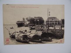 VIÊT-NAM SAÏGON Pointe Des Blagneurs Le Paul Lecat Sur Rade CP Non écrite Matelot Soldat Armée Militaire Marin Marine - Vietnam