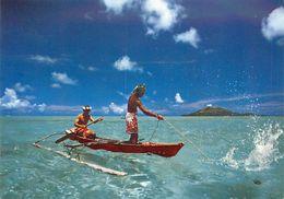 PIE 17-GAN-7988 : BORA BORA PECHE AUX CAILLOUX - Polinesia Francese