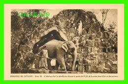 MISSIONS DE CEYLAN - SÉRIE IX - L'ÉLÉPHANT FAIT LA GÉNUFLEXION DEVANT  - MISSIONNAIRES OBLATS  DE MARIE-IMMACULÉE - - Missions