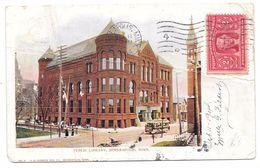 PUBLIC LIBRARY - MINNEAPOLIS - V.O. HAMMON PUB. Co. No. 4 Colorisée - 1904 - Cpa Dos Non Divisé - Minneapolis
