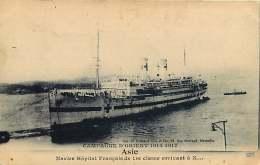 BATEAU - 011017 - MARINE MILITARIA GUERRE - ASIE Campagne D'ORIENT 1914 1917 Navire Hôpital Français 1ère Classe - Postcards