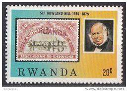 935 Rwanda 1979 R. Hill - Francobollo German East Africa Sc. N° 5 - Rowland Hill
