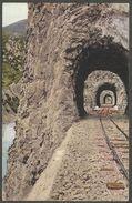 Neue Bahn Sarajevo - Ostgrenze, 3 Tunnels An Der Drina. Ansichtskarte Aus 1908 Mit 5 Heller-Marke Bosniens. - Bosnia Y Herzegovina