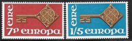 Ireland, Scott # 242-3 MNH Europa, 1968 - 1949-... Republic Of Ireland
