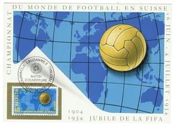 Suisse // Schweiz // Switzerland // Sport //  Football // Carte Maximum Coupe Du Monde 1954  Match D'ouverture - 1954 – Schweiz