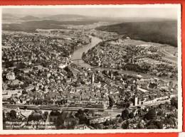 MIE-04  Schaffhausen Mit Castell Musot U. Feuerthafen. Gelaufen In 19t7 Gross Format - SH Schaffhausen