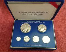 "British Virgin Islands Silver Proof Set 1953 - 1978 ""Coronation Jubilee"" (free Shipping Via Registered Air Mail) - British Virgin Islands"