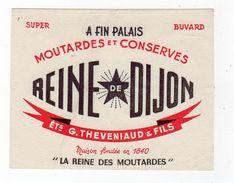 Oct17  79564    Petit   Buvard  Moutarde  Reine De Dijon   éts Theveniaud - Mostard