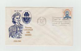 CANADA - FDC 1960 - Cachet OTTAWA - ONTARIO - Scoutisme - Golden Jubilee - CANADIAN GIRL GUIDES - Brieven En Documenten