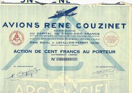 AVIONS RENE COUZINET 1931 AVIATION AERONAUTIQUE AEROPOSTALE TOUS COUPONS - Aviation