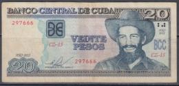 2012-BK-20 CUBA 20$ 2012 CAMILO CIENFUEGOS REPLACEMENT CZ REEMPLAZO - Cuba