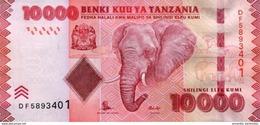 TANZANIE 10000 SHILLINGS ND (2015) P-44b NEUF SIGN. UNKNOWN & NDULU [TZ143b] - Tanzania