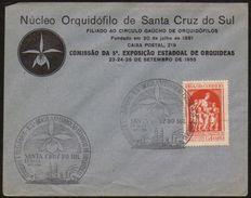 18883 Brasil Envelope Núcleo Orquidófilo Orquídeas Santa Cruz Do Sul - Rotary Club