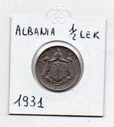 Albania - 1931 - 1/2 Lek - (MW479) - Albania