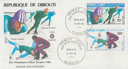 Enveloppe  FDC  1er  Jour   REPUBLIQUE  DE  DJIBOUTI   Jeux   Olympiques   SARAJEVO   1984 - Winter 1984: Sarajevo