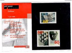 Postzegelmapje 193. 7 Juli 1998. Cultuur. Bibliotheek, Simon Vestdijk En M.C. Escher. - Carnets Et Roulettes