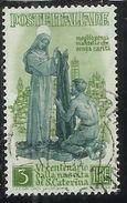 ITALY REPUBLIC ITALIA REPUBBLICA 1948 SANTA CATERINA LIRE 3 USATO USED OBLITERE' - 1946-60: Gebraucht