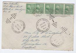 1945 Detroit With Detroit Mich, Roosevelt Park Duplex 1 & Duplex 2 Pmks USA COVER To Birmingham GB , Stamps - United States