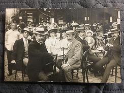 Cpa Carte Photo Devanture Terrasse Bar - Cartes Postales