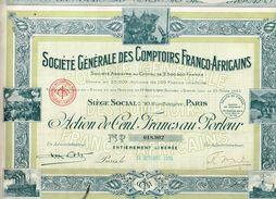 Action Ancienne - Société Générale Des Comptoirs Franco-Africains - Titre De 1925 - Africa