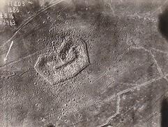 Foto Luftbild Zwischenwerk Froide Terre - Artillerie-Meßabteilung Der Artillerie-Meßschule Wahn - 1. WK - 11*8cm (30759) - Krieg, Militär