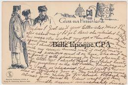 Hessen - GRUSS Aus HESSENLAND - #6 +++ Illustration OTTO UBBELOHDE +++++ To New York City, 1907 - Non Classificati