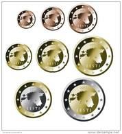 ESTONIA Set/Tira 8 Monedas/Coins EURO (Primera Emision) 2.011 2011 SC/UNC DL-9740..... - Estonia