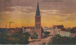 Allemagne  DUISBURG  -    DELLPLATZ  MIT ST  JOSEFSKIRCHE - Duisburg