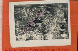 Photo Guerre 1914-18  VERDUN  CENTRE BOMBARDE  VUE PRISE D'AVION  Ou BALLON OBSERVATION (SAUCISSE)  SEPT 2017  357 - Krieg, Militär
