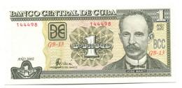 2002 Cuba 1 Peso Banknote - Cuba