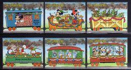 St. Vincent 1988 Mickey Christmas Trains Disney Minnie Cartoon Animation Celebrations Art Stamps (13) MNH Sc 1121-1126 - Disney