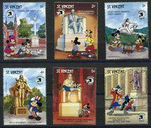 St. Vincent 1989 Disney America New York World Stamp EXPO Cartoon Animation Childhood Stamps (15) MNH SC#1256-1263 - Disney