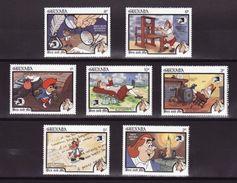 Grenada 1989 Disney Cartoon Animation Movie Ben And Me Art Childhood Stories Cinema Film Stamps (3) MNH SC#1771-1777 - Fairy Tales, Popular Stories & Legends