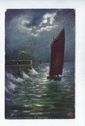 CPA Voiliers Entering The Harbour St Andrews Oilette Raphael Tuck Moonlit Seas N° 6693 - Velieri