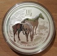 Australia, Lunar II Horse 10 Oz 2014 Silver 999 Pure - 10 Once Argento Bullion Perth Mint - Australia