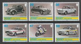 SERIE NEUVE DE JERSEY - VEHICULES DE POLICE DEPUIS LES ANNEES 1950 N° Y&T 1026 A 1031 - Police - Gendarmerie