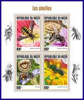 NIGER 2017 ** Bees Bienen Abeilles M/S - OFFICIAL ISSUE - DH1739 - Abeilles