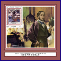 SAO TOME 2017 ** Edgar Degas Paintings Gemälde Peintures S/S - OFFICIAL ISSUE - DH1739 - Sonstige