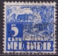 Ned. Indië: Langebalkstempel SOEKOREDJO-KENDAL (723) Op 1934-37 Karbouw 5 Ct Blauw NVPH 192 - Indes Néerlandaises