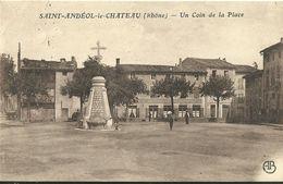 Saint Andeol Le Chateau Un Coin De La Place - France