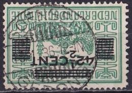 Ned. Indië: Langebalkstempel SOENGEI-GERONG (737) Op 1934 Hulpuitgifte LP Met Opdruk  42½ / 75 Cent NVPH 214 - Nederlands-Indië