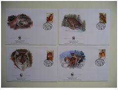 WWF Belarus Biélorussie Weißrussland Lynx Luchs 2000 4 FDC - FDC
