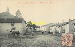 54 Velaine Sous Amance, Rue Et Fontaine, Cheval Qui S'abreuve...., Affranchie 1909 - France