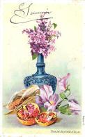 [DC10795] CPA - FIORI - Viaggiata 1904 - Old Postcard - Fiori