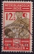Ned. Indië  Langebalkstempel TASIKMALAJA (823) Op 1935 Chr. Militaire Bond 12½ Ct Oranje / Sepia NVPH 219 - Indes Néerlandaises
