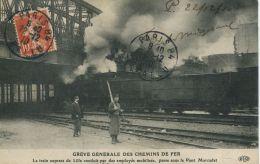N°56184 -cpa Grève Générale Des Chemins De Fer - Other