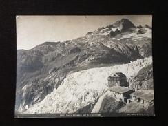 Photographie Vers 1890' (Suisse)  Col De La Furka Belvedère Rhône Gletscher (glacier Du Rhône) Photographe Wehrli AG - Ancianas (antes De 1900)