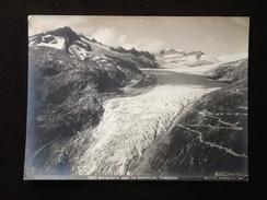 Photographie Vers 1890' (Suisse)  Rhône Gletscher (glacier Du Rhône) Au Sommet Tieralplistock Photographe Wehrli Arthur - Ancianas (antes De 1900)